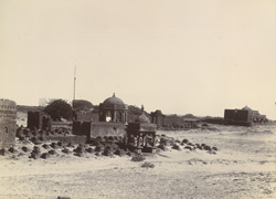 [View of the tomb of Mangrole Shah near Somnath (Patan).]